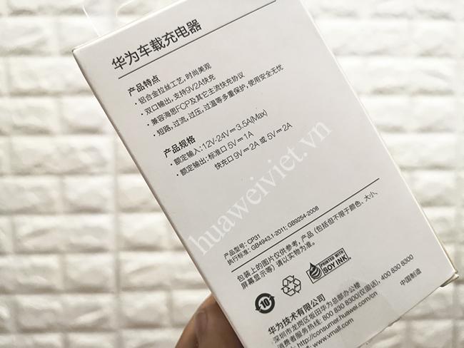 bộ sạc nhanh trên oto Huawei CP31 chính hãng