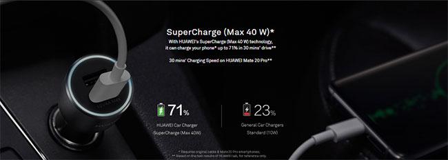 sạc nhanh trên oto chính hãng Huawei giá rẻ