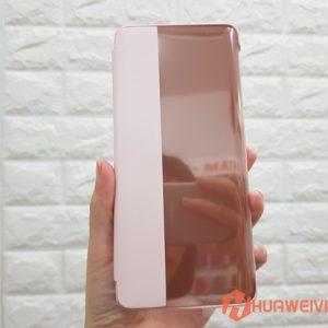 Bao da Huawei P30 Pro Smart View Flip Cover hồng
