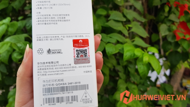 Giấy in ảnh Huawei Zink