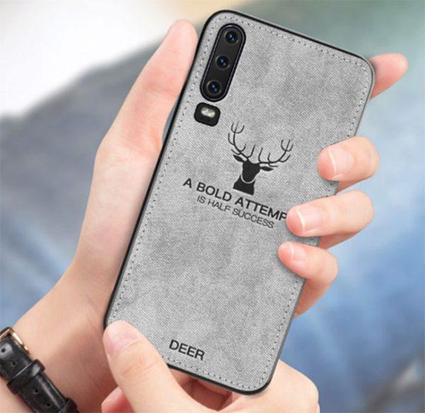 ốp lưng Huawei P30 hình nai vân da