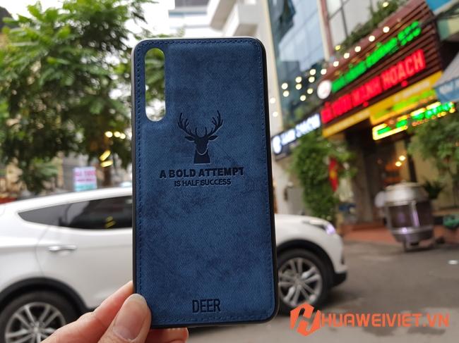 Ốp lưng Huawei P30 hình Nai vân da 3D