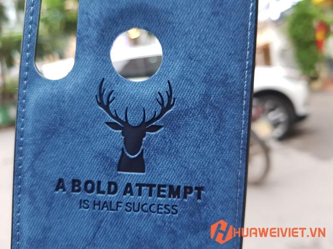Ốp lưng Huawei P30 Lite hình Nai vân da 3DỐp lưng Huawei P30 Lite hình Nai vân da 3D