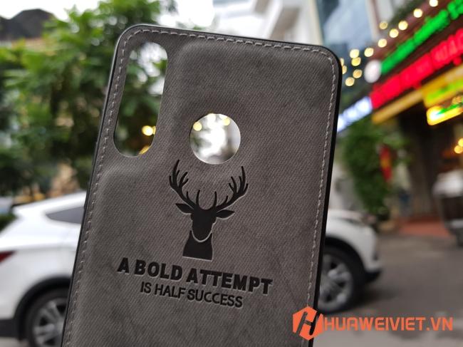 Ốp lưng Huawei P30 Lite hình Nai vân da 3D