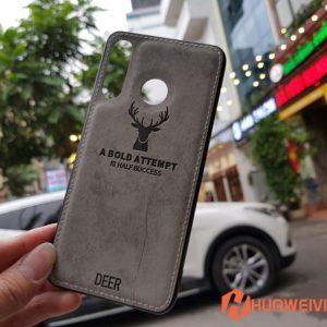 ốp lưng Huawei P30 Lite hình Nai 3D xám