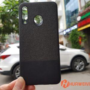 ốp lưng Huawei P30 Lite vải 3 lớp đen