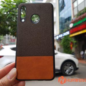 ốp lưng Huawei P30 Lite vải 3 lớp nâu