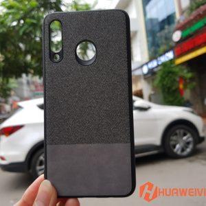 ốp lưng Huawei P30 Lite vải 3 lớp xám
