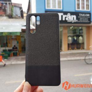 ốp lưng Huawei P30 Pro vải 3 lớp màu đen