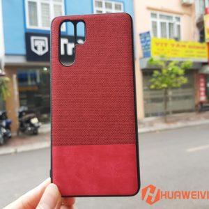 ốp lưng Huawei P30 Pro vải 3 lớp màu đỏ