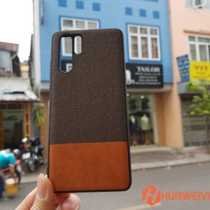 ốp lưng Huawei P30 Pro vải 3 lớp màu nâu