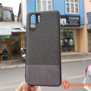 ốp lưng Huawei P30 Pro vải 3 lớp màu xám