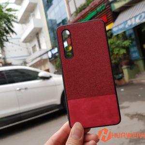 Ốp lưng Huawei P30 vải 3 lớp màu đỏ