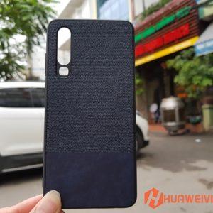Ốp lưng Huawei P30 vải 3 lớp màu xanh đậm