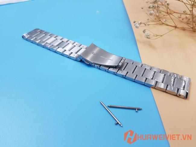 Dây đồng hồ kim loại màu bạc cho Huawei Watch GT, Honor Magic Watch
