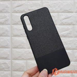ốp lưng Huawei P20 Pro vải 3 lớp đen