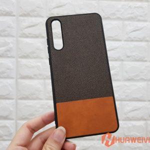 ốp lưng Huawei P20 Pro vải 3 lớp nâu