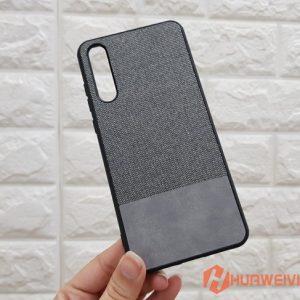 ốp lưng Huawei P20 Pro vải 3 lớp xám
