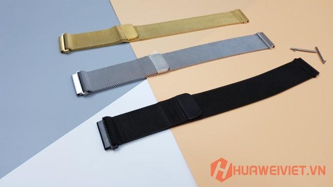 Thay dây đồng hồ thông minh Huawei Watch GT, Honor Magic Watch kim loại nam châm